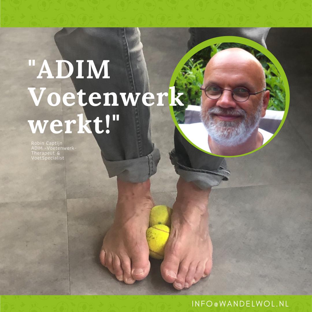 Robin Captijn, voetspecialist, adem, adim-therapie, ede, voetspecialist, wandelwol